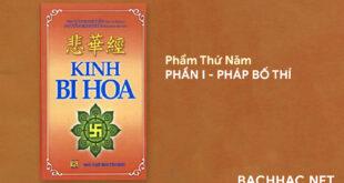 Kinh Bi Hoa - PHẨM THỨ NĂM - PHẦN I - PHÁP BỐ THÍ